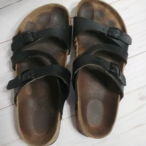 Birkies by Birkenstock Black Strap Sandals
